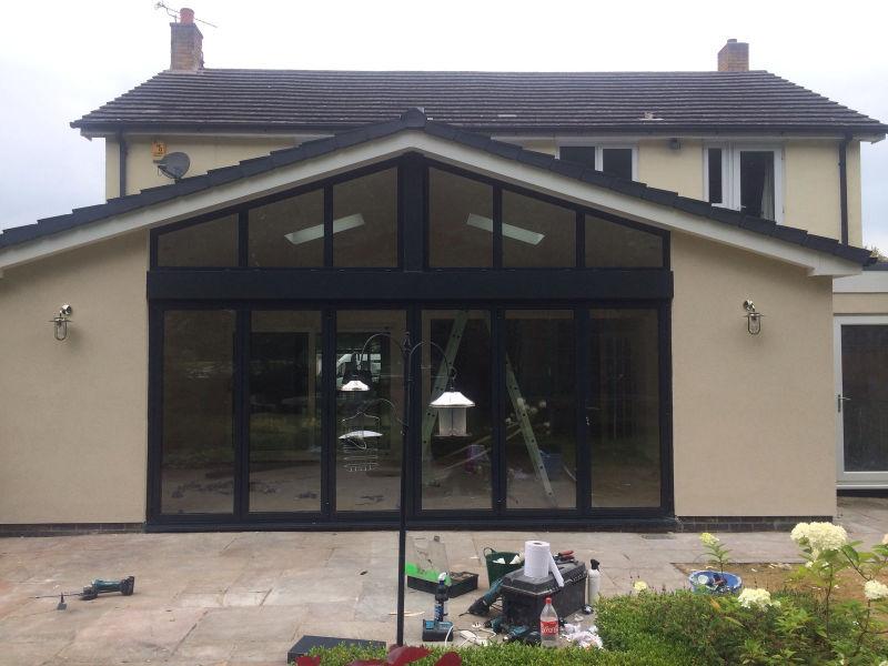 Bi-fold Doors installed by Stockport Construction Ltd